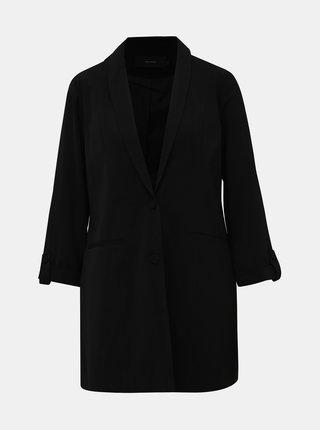 Černé dlouhé sako VERO MODA Amazing