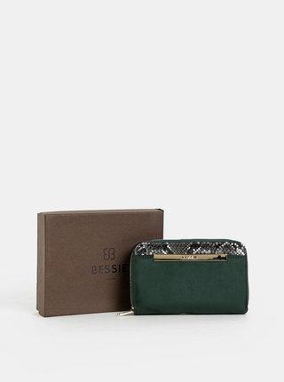 Zelená peněženka v semišové úpravě Bessie London