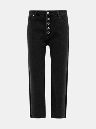 Tmavě šedé straight zkrácené džíny ONLY Kelis