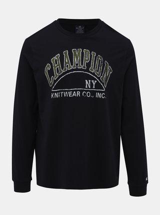 Tmavomodré pánske tričko s potlačou Champion