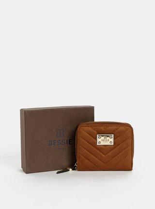 Hnědá peněženka v semišové úpravě Bessie London