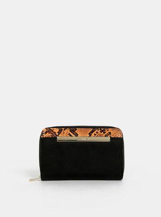 Čierna peňaženka v semišovej úprave Bessie London