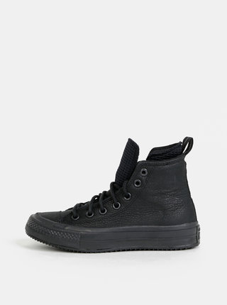 Čierne kožené tenisky Converse Chuck Taylor