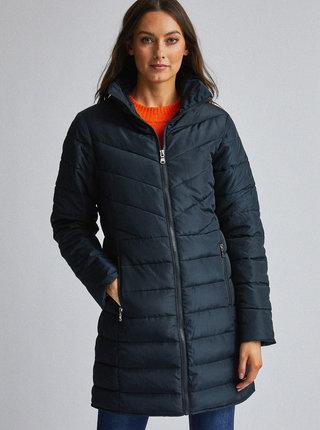 Tmavomodrý prešívaný kabát Dorothy Perkins