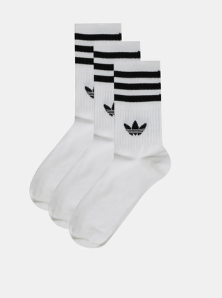 Sada tří párů bílých ponožek adidas Originals