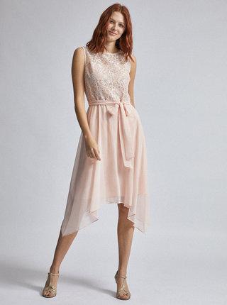 Světle růžové šaty s krajkou Billie & Blossom