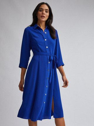 Tmavě modré košilové šaty Dorothy Perkins
