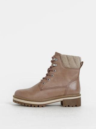 Starorůžové zimní kotníkové boty Tamaris