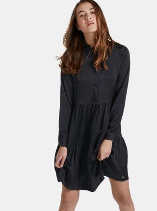 Čierne košeľové šaty Tom Tailor Denim