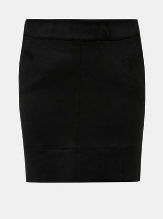 Čierna púzdrová mini sukňa v semišovej úprave ONLY Julie