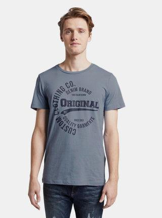 Modré pánske tričko s potlačou Tom Tailor Denim