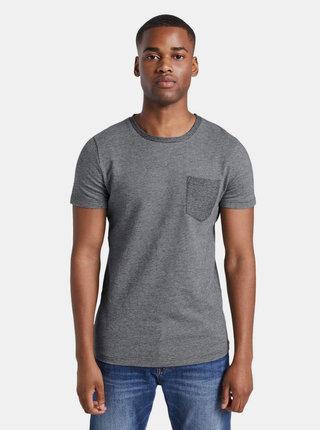 Šedé pánske vzorované tričko Tom Tailor Denim