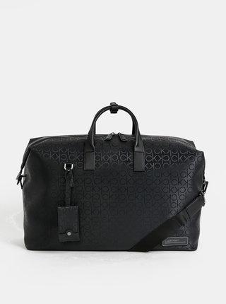 Čierna vzorovaná cestovná taška Calvin Klein Jeans