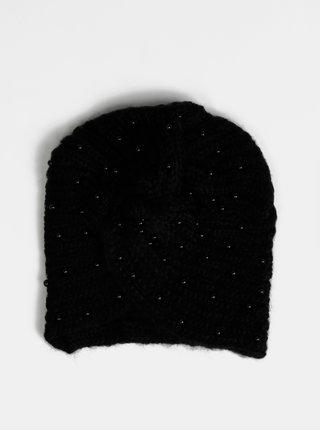 Čierna dámska čiapka s korálkami Haily´s Pearly