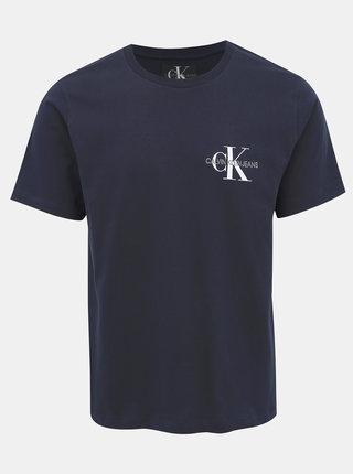 Tmavě modré pánské tričko s potiskem Calvin Klein Jeans
