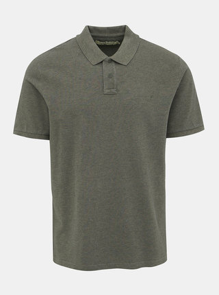 Khaki pánské polo tričko Calvin Klein Jeans