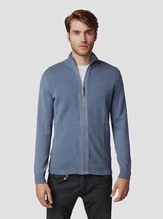 Modrý pánsky sveter na zips Tom Tailor
