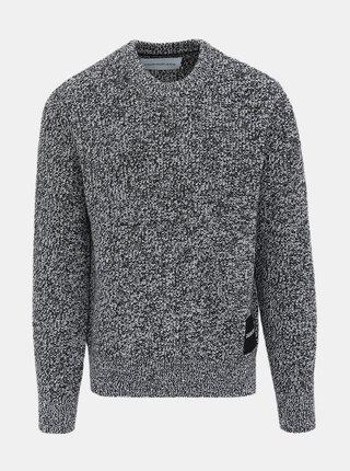Šedý pánsky sveter nášivkou Calvin Klein Jeans