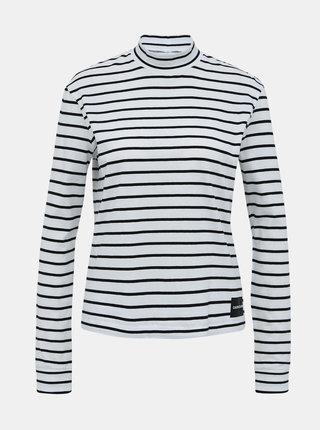 Bílé dámské pruhované tričko Calvin Klein Jeans