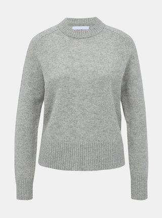 Šedý dámsky vlnený sveter Calvin Klein Jeans