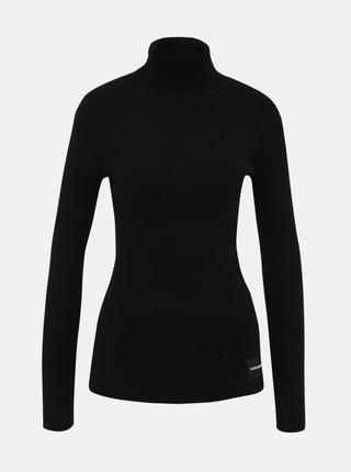 Čierny rolák s prímesou vlny Calvin Klein Jeans