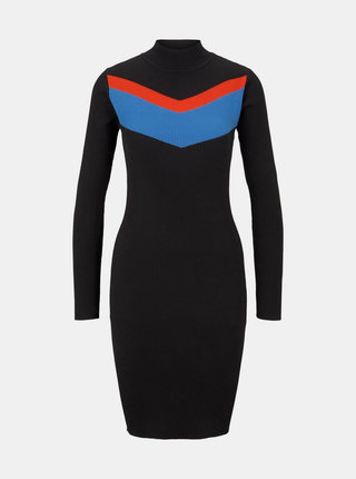 Černé pouzdrové svetrové šaty Tom Tailor Denim