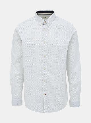 Biela pánska vzorovaná regular fit košeľa Tom Tailor