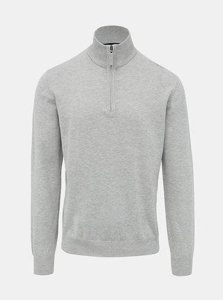 Svetlošedý pánsky sveter Tom Tailor