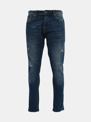 Modré pánske tapered fit rifle Tom Tailor Denim