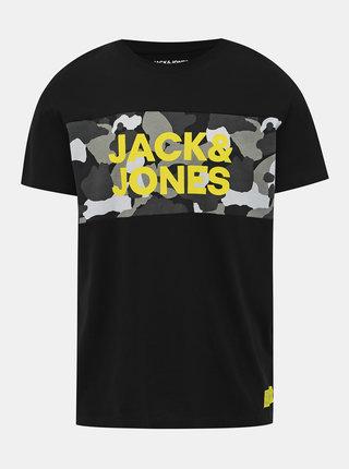 Černé pánské tričko s potiskem Jack & Jones Ludo