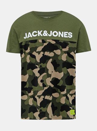 Khaki pánské tričko s potiskem Jack & Jones Ludo