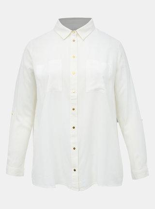 Biela košeľa ONLY CARMAKOMA Dipz
