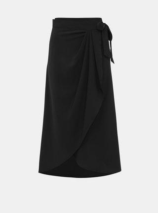 Čierna zavinovacia sukňa Selected Femme Jade