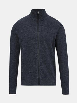 Tmavě modrý svetr na zip Jack & Jones Blufelix