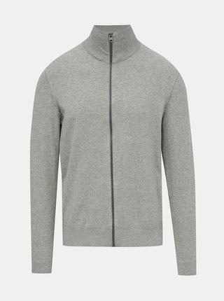 Šedý sveter na zips Jack & Jones Blufelix