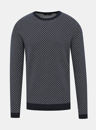 Tmavomodrý vzorovaný sveter Jack & Jones Jack