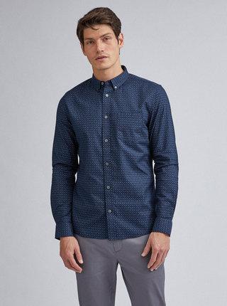 Tmavomodrá vzorovaná košeľa Burton Menswear London