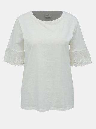 Bílé tričko s madeirou Jacqueline de Yong Engel