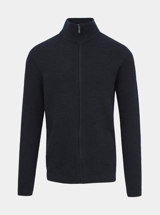Tmavě modrý pánský svetr na zip Selected Homme George