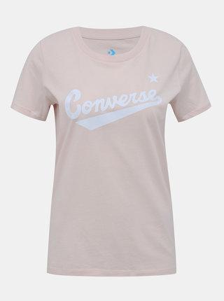 Světle růžové dámské tričko Converse