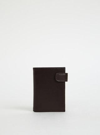 Tmavohnedá pánska kožená peňaženka OJJU