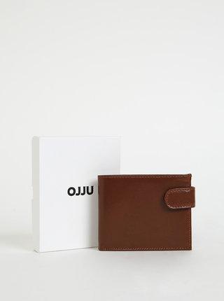 Hnědá pánská kožená peněženka OJJU