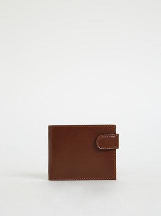 Hnedá pánska kožená peňaženka OJJU