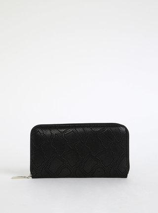 Čierna dámska kožená peňaženka s hadím vzorom OJJU