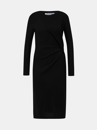 Černé šaty s řasením Noisy May Sky