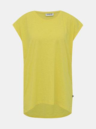 Žluté volné basic tričko Noisy May Mathilde