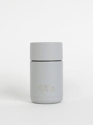 Šedý nerezový cestovní hrnek Frank Green Ceramic 295 ml