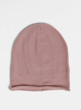 Světle růžová čepice Pieces Ea