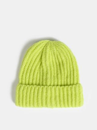 Neonovo zelená čiapka Pieces Silina