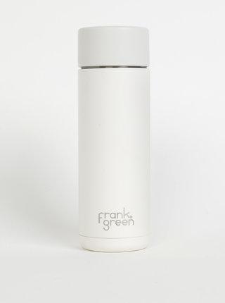 Bílá nerezová láhev Frank Green Ceramic 595 ml